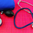 Stock Photo: Medical sphygmomanometer, tensiometer, stethoscope