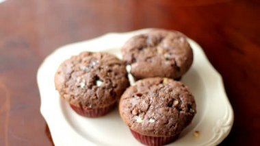 Muffins — Vídeo de stock