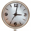 Silver clock isolated — Stock Photo