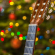 Christmas guitar — Stock Photo