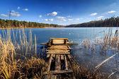Empty wooden pier — Stock Photo