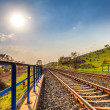 Railway during a sunny day — Stock Photo #45097831