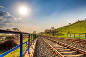 Railway during a sunny day — Stock Photo