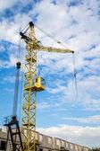 Cranes side — Stock Photo