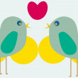 aves hermosas — Vector de stock