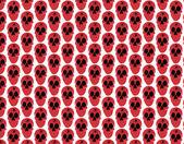 Pattern skull — Stock Vector