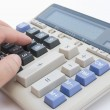 Man using a calculator — Foto Stock