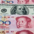 USD in mid of RMB — Stock Photo