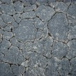 Stock Photo: Cracked blacktop