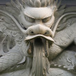 A mighty stone carving dragon — Stock Photo