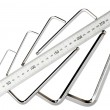 Foto de Stock  : Allen key set with standard stainless steel ruler