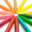 Colorful crayons put together — Stock Photo #18148471
