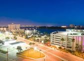 Night view of clearwater at tampa florida USA — Stock Photo