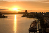 Sunset of clearwater at tampa florida — Stock Photo