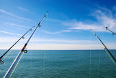 Fishing on deep ocean — Stock Photo