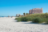 Sunshine beach in Clearwater of Tampa Florida America — Stock Photo
