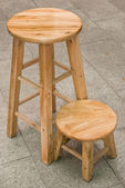 Two round top wooden chairs — Stock Photo