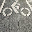 Bicycle lane — Stock Photo #18151799