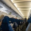 Foto Stock: Airplane interior
