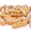 A heap of raw peanuts — Stock Photo
