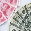 Stock Photo: USD and RMB