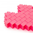 Heart made from toy bricks,with clipping path — Stock Photo #19513185
