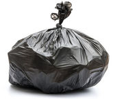 Garbage bag on white background — Stock Photo