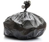Garbage bag on white background — Stock Photo