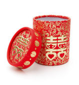 Chinese traditional double happiness gift box,no trade mark — Stock Photo