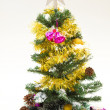 Christmas tree with beautiful decoration — Stok fotoğraf