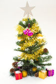 Christmas tree with beautiful decoration — Стоковое фото