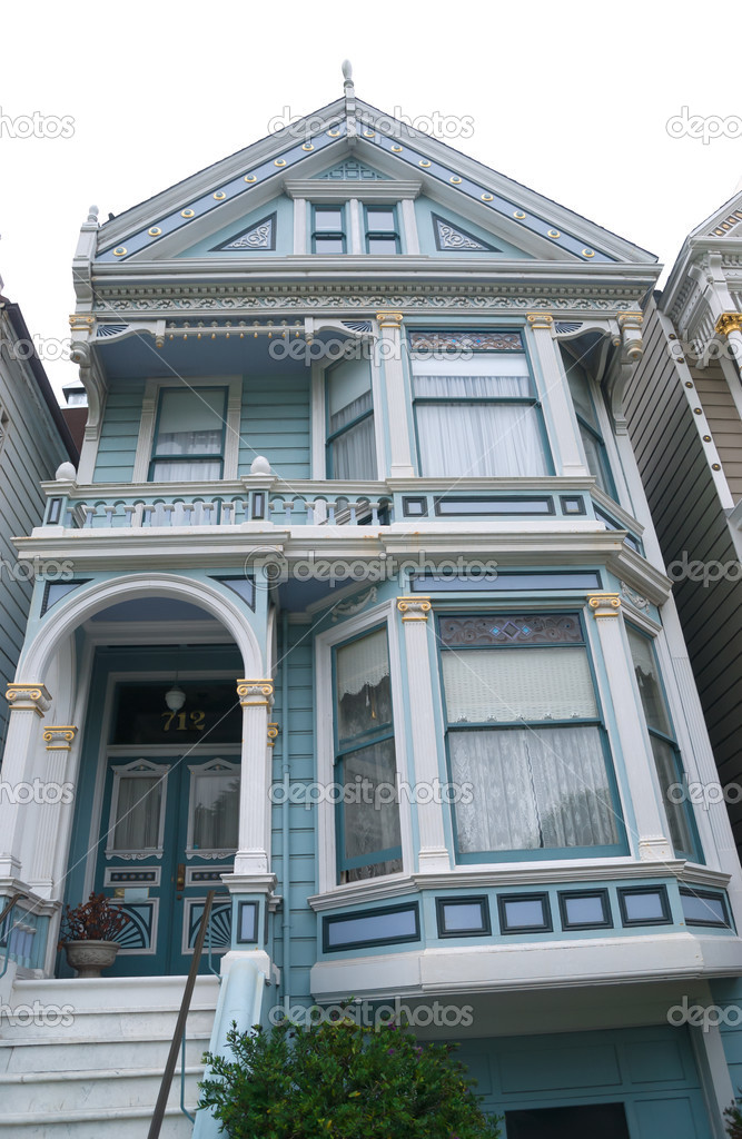Historic victorian home in san francisco california usa for San francisco victorian houses history