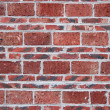 Red brick wall, square format — Stock Photo