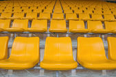 Yellow stadium seats — Stock Photo