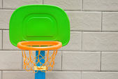 Close up of basketball hoop for little kid — Stock Photo