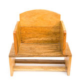 Front view wooden chair for children on white — Stock Photo