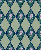 Seamless floral abstrait wih nénuphar dans un style rétro. — Photo
