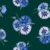 Floral naadloze achtergrond met bloem boeketten — Stockfoto
