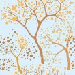 Autumn park trees seamless pattern in chinese style — Stock Photo #18529165
