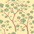 Stock Photo: Autumn park trees seamless pattern in chinese style