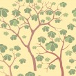 Autumn park trees seamless pattern in chinese style — Stock Photo #18529239
