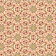 Continuous seamless floral mosaic pattern — Stockvectorbeeld