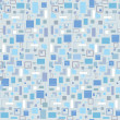 Abstract seamless pattern with squares and rectangles. 1960s style seamless vector background - Stock Vector