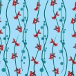 Seamless pattern background with fish - Stok Vektör