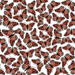 Butterfly seamless pattern. — Stock Vector
