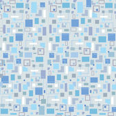 Abstract seamless pattern with squares and rectangles. 1960s style seamless vector background — Stock Vector