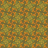 シームレスなパターンは、レトロなスタイルの壁紙で植物をモチーフにした背景 — ストックベクタ