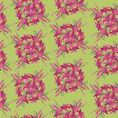 Bezešvé vzor z růžové lilie — Stock vektor