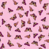 蝴蝶无缝背景 — 图库矢量图片