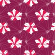 Seamless floral pattern with red and white flowers petunia — Stock Vector #18885955